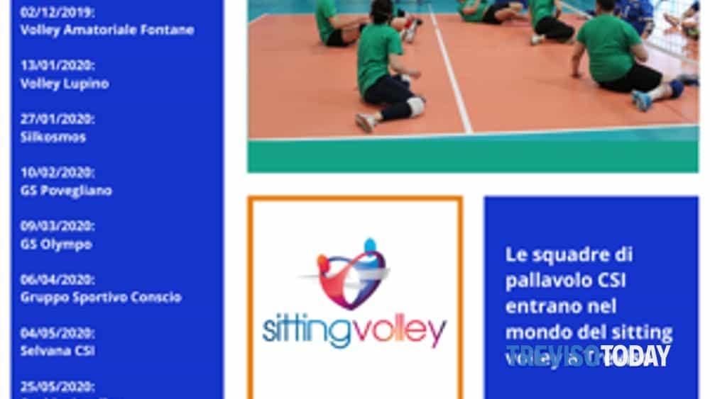 #volleyallinclusive, è partita l'iniziativa di sitting targata csi treviso – kosmos volley-2
