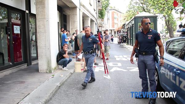 Blitz di Django in riviera Santa Margherita, arriva la polizia