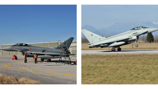 I due Eurofighter di Istrana