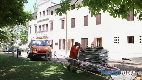 Tromba d'aria scoperchia la sala consiliare, danni per 80mila euro