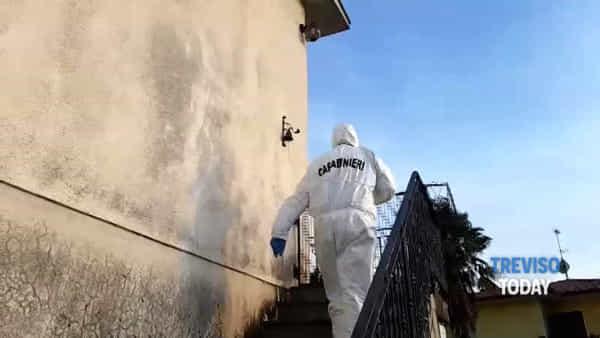 Giallo di San Fior, i rilievi della polizia scientifica dei carabinieri di Treviso