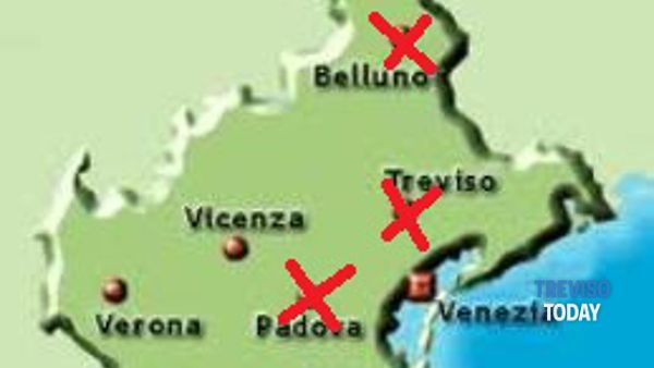 Cartina Veneto Michelin.Province Veneto Cartina