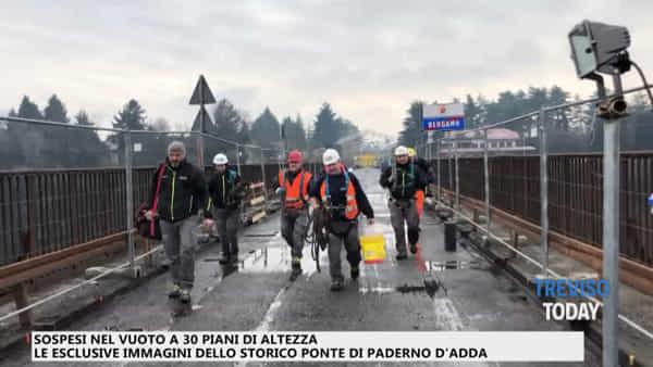 Azienda trevigiana realizza ponteggio da record: il video in esclusiva