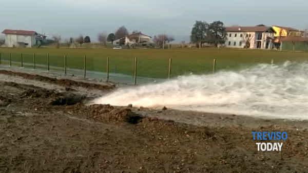 Condotta dell'acqua rotta, territorio coneglianese senz'acqua