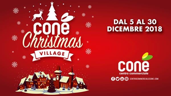 Al centro commerciale Conè è festa con il Villaggio di Natale