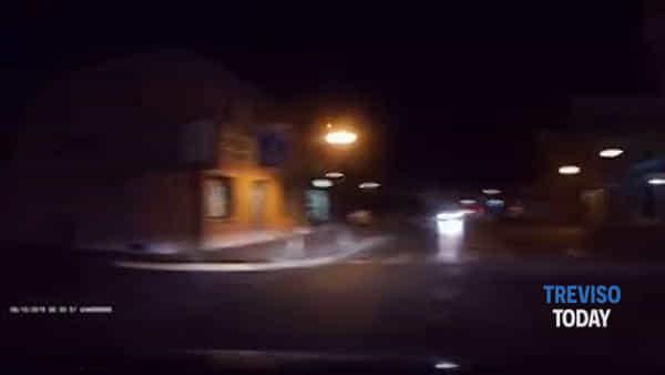 Cervo sfreccia all'alba per le via di Montebelluna, il video diventa virale