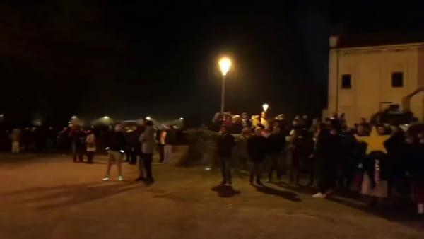Sant'Angelo, il sindaco Mario Conte accende il panevin