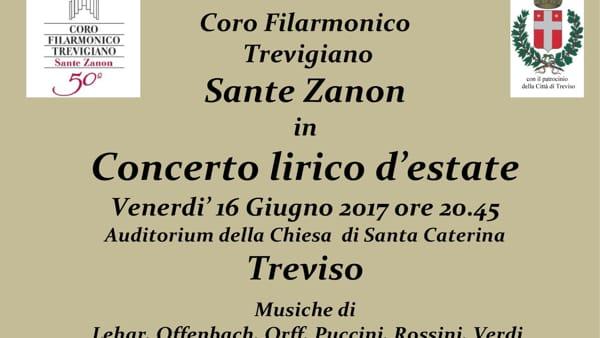 Concerto lirico d'estate a Santa Caterina con il Coro Sante Zanon