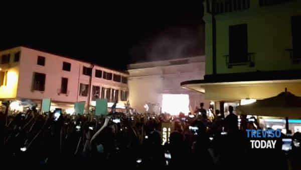 Treviso torna in serie A, la festa a porta San Tomaso