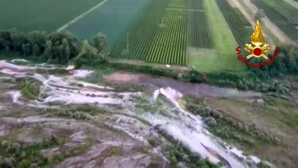 Incidente aereo a Cimadolmo, ecco le immagini dall'elicottero