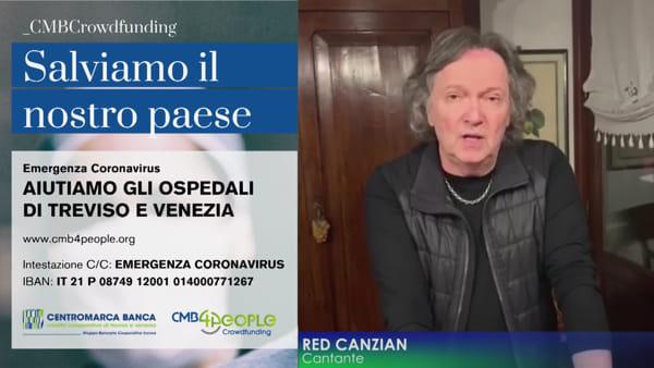 Veneto e Coronavirus: Red Canzian lancia un appello di crowdfunding per gli ospedali