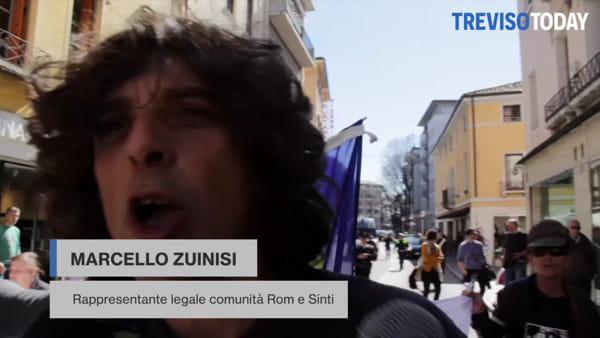 """Rom, sinti e partigiani in corteo """"per liberare l'Italia da razzismo, fascismo e nazismo"""""""