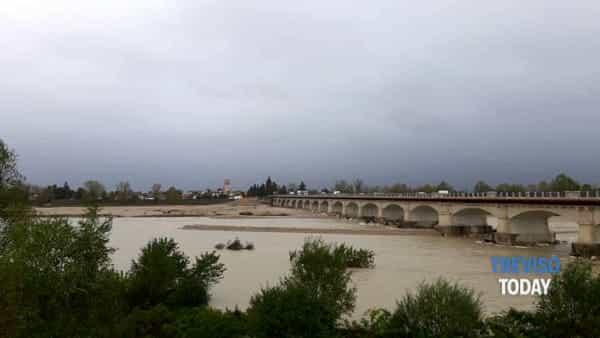 Maltempo, sotto controllo il livello del fiume Piave