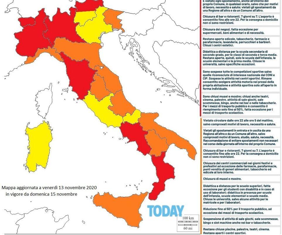 Cartina Spiagge Veneto.Veneto Resta In Zona Gialla Friuli Ed Emilia Romagna In Zona Arancione
