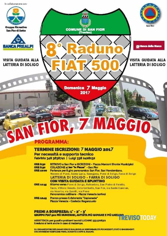 8° raduno fiat 500 Eventi a Treviso