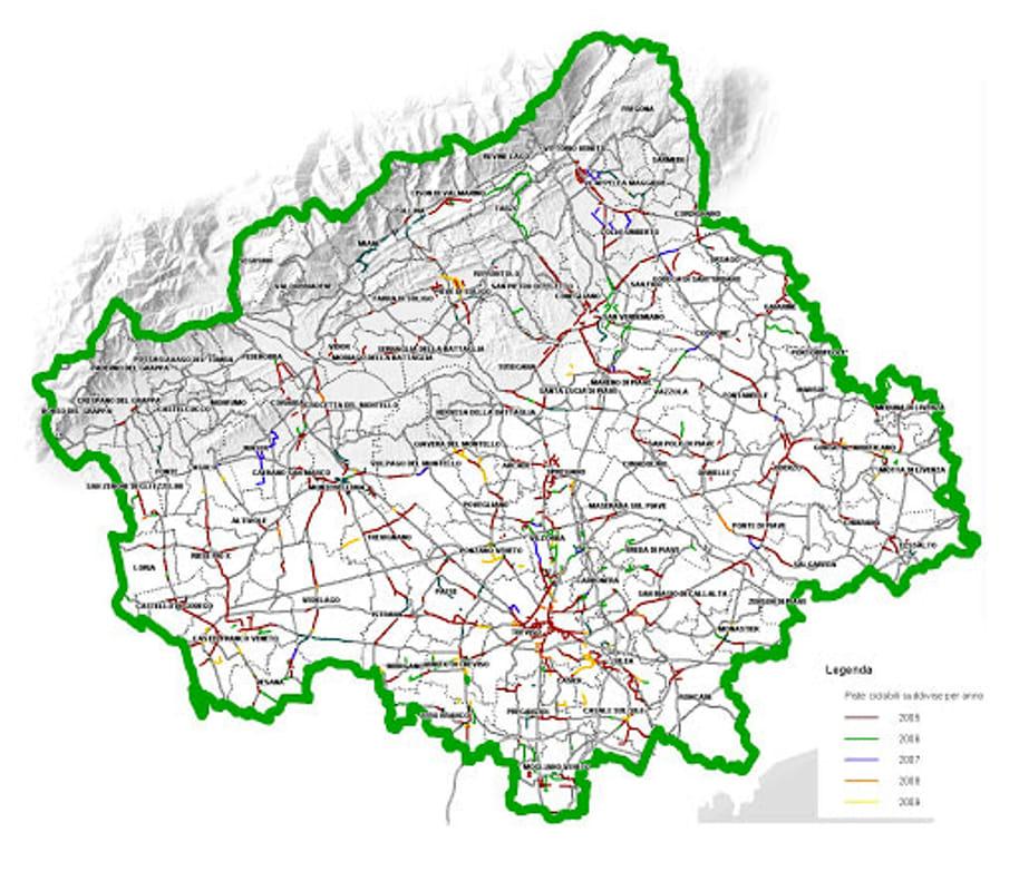 Cartina Veneto Comuni.Coronavirus La Mappa Dei Contagi In Tutti I Comuni Della Marca