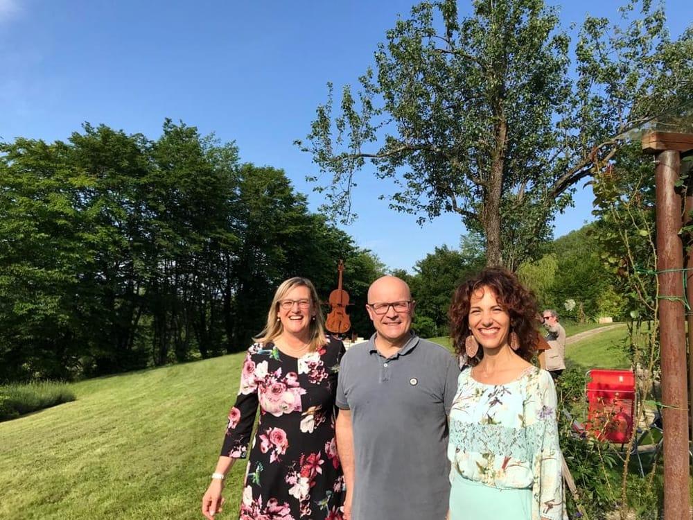 In foto, il parco della Musica con Valentina Cremona ed il nuovo sindaco