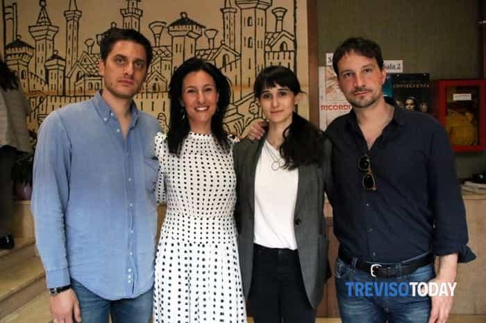 Da sinistra, Luca Marinelli, Giuliana Fantoni, Linda Caridi e Valerio Mieli
